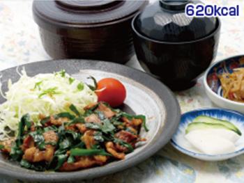 ニラ豚炒め定食
